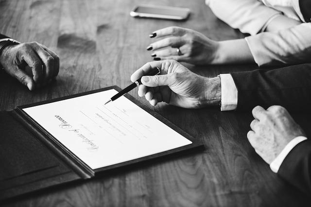 podpisywanie dokumentów rozwodowych