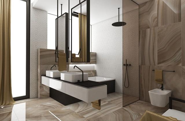 Zaprojektowana łazienka